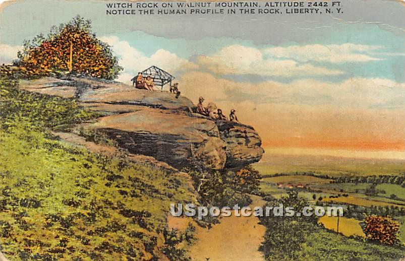 Witch Rock - Liberty, New York NY Postcard