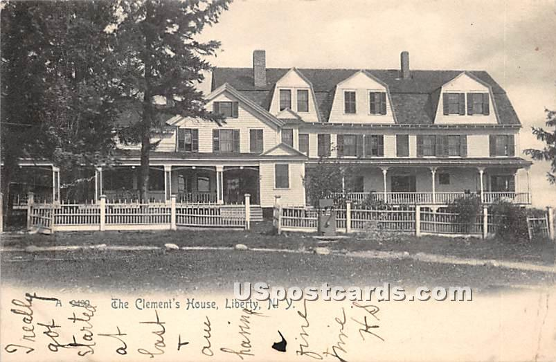 Clement's House - Liberty, New York NY Postcard