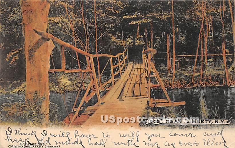 Bridge - Liberty, New York NY Postcard