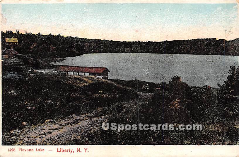 Revonah Lake - Liberty, New York NY Postcard