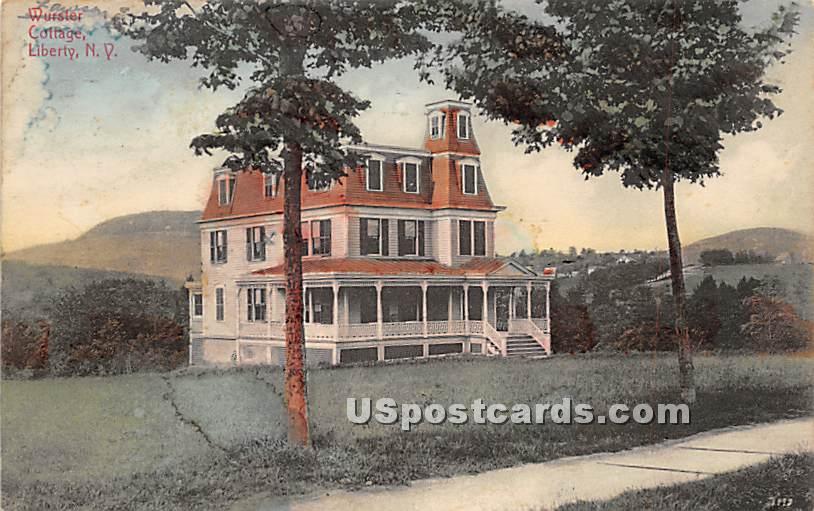 Wurster Cottage - Liberty, New York NY Postcard