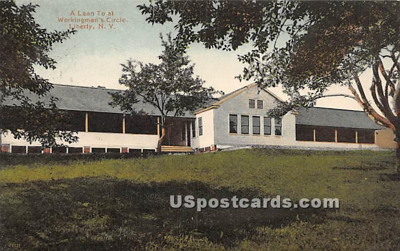 A Lean to - Liberty, New York NY Postcard