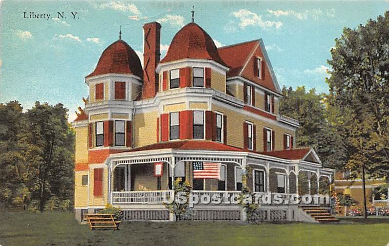 Woodlawn Manor - Liberty, New York NY Postcard