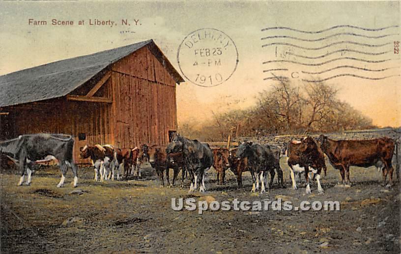 Farm Scene - Liberty, New York NY Postcard