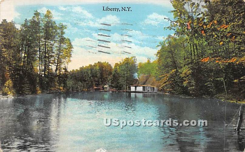 Lake View - Liberty, New York NY Postcard