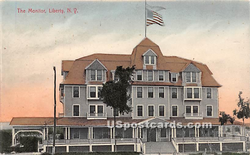 The Monitor - Liberty, New York NY Postcard
