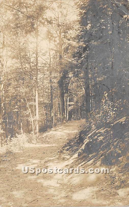 Road Scene - Liberty, New York NY Postcard