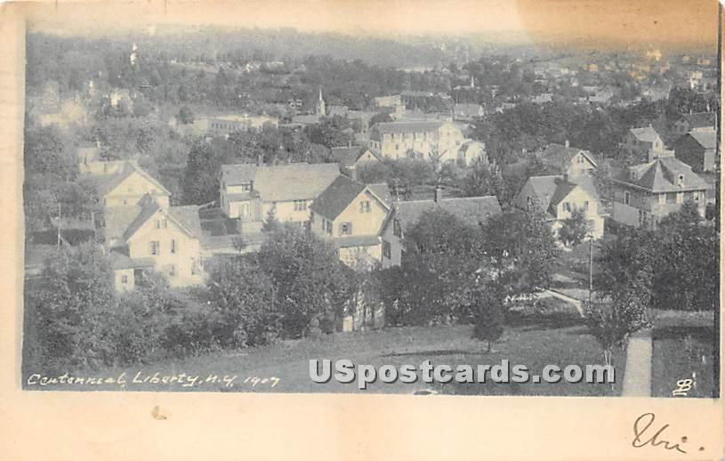 Centennial 1907 - Liberty, New York NY Postcard