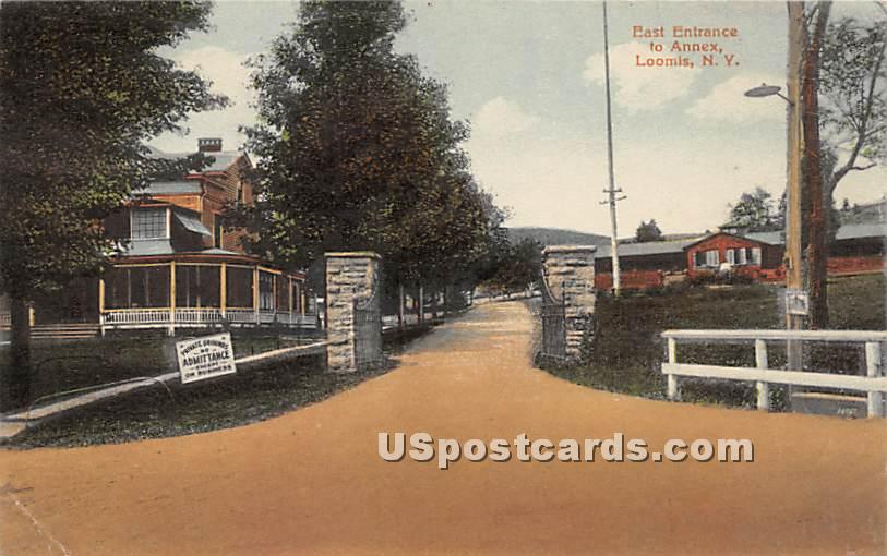 East Entrance to Annex - Liberty, New York NY Postcard