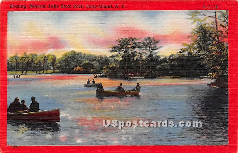 Boating, Belmont Lake State Park - Long Island, New York NY Postcard