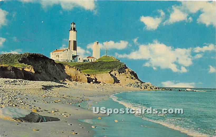 Montauk Point Lighthouse - Long Island, New York NY Postcard