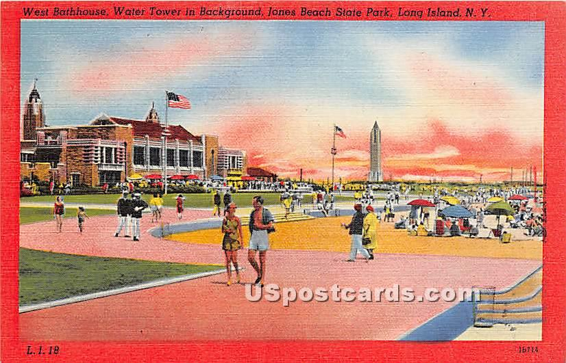 West Bathhouse, Jones Beach State Park - Long Island, New York NY Postcard