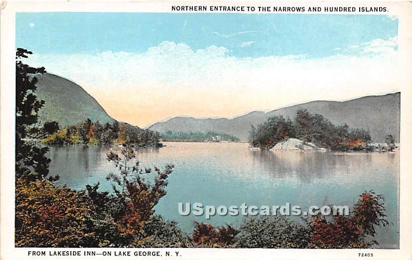 Lakeside Inn, Hundred Islands - Lake George, New York NY Postcard