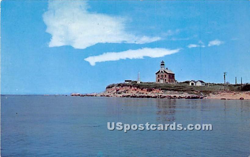 Plum Island Lighthouse - Long Island, New York NY Postcard