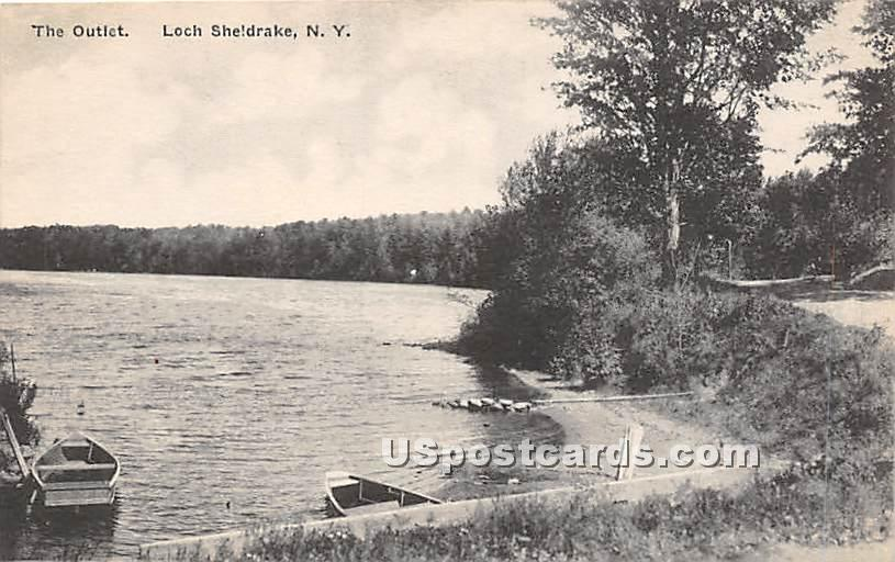 The Outlet - Loch Sheldrake, New York NY Postcard