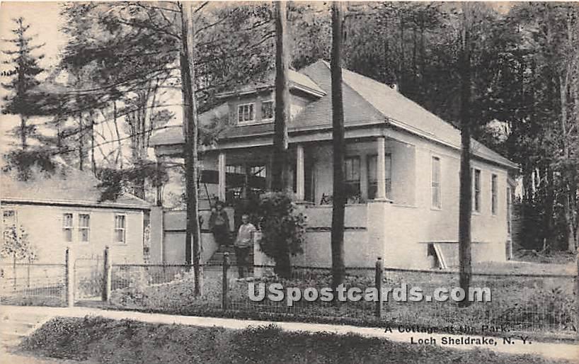 Cottage at the Park - Loch Sheldrake, New York NY Postcard