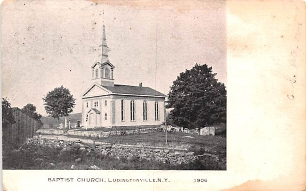 Baptist Church Ludingtonville, New York Postcard