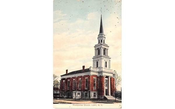 Presbyterian Church Lyons, New York Postcard