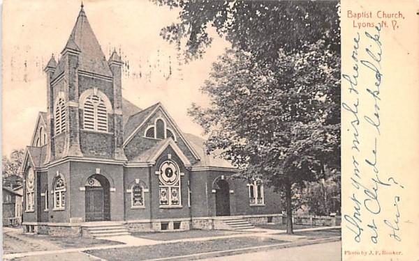 Baptist Church Lyons, New York Postcard