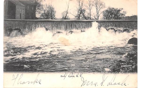 Dam Lyons, New York Postcard