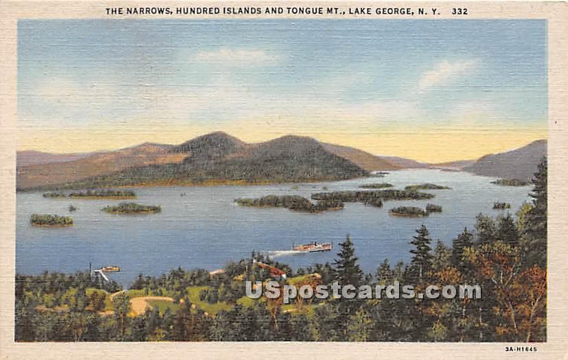 The Narrows, Hundred Islands - Lake George, New York NY Postcard