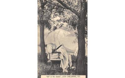 90 degree in the Shade Loch Sheldrake, New York Postcard
