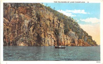 The Palisades Lake Champlain, New York Postcard