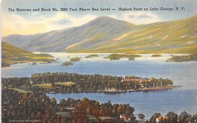 The Narrows Lake George, New York Postcard