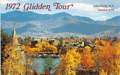 1972 Glidden Tour Lake Placid, New York Postcard