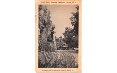 Indian's Blessing Lebanon Springs, New York Postcard