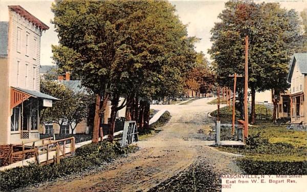 Main Street Masonville, New York Postcard