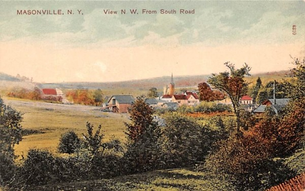 NW From South Road Masonville, New York Postcard