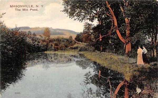 The Mill Pond Masonville, New York Postcard