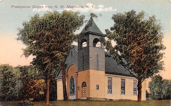 Presbyterian Church Masonville, New York Postcard