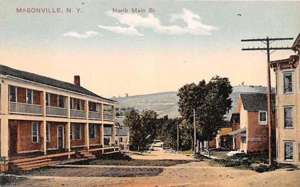 North Main Street Masonville, New York Postcard