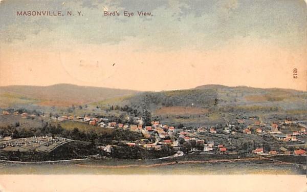 Bird's Eye View Masonville, New York Postcard