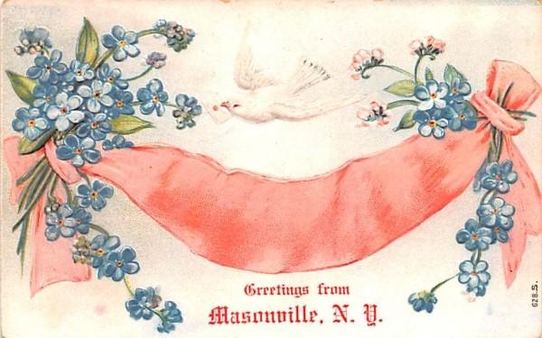Greetings from Masonville, New York Postcard