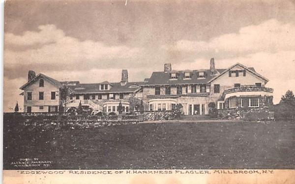 Edgewood Residence of H Harkness Flagler Millbrook, New York Postcard
