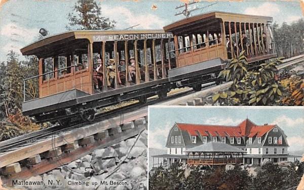 Mt Beacon Incline Railway Matteawan, New York Postcard