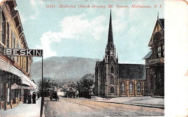 Methodist Church Matteawan, New York Postcard
