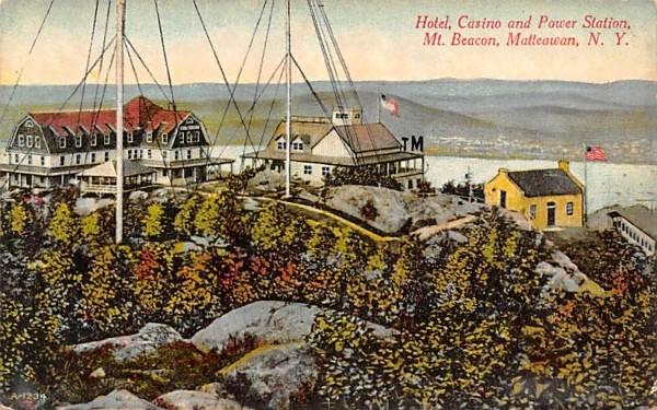 Hotel, Casino & Power Station Matteawan, New York Postcard