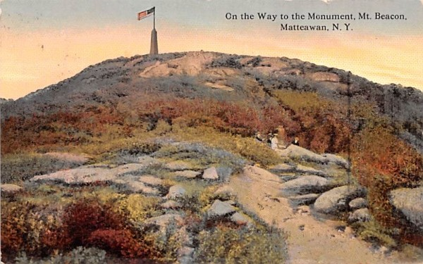 On the Way to the Monument Matteawan, New York Postcard