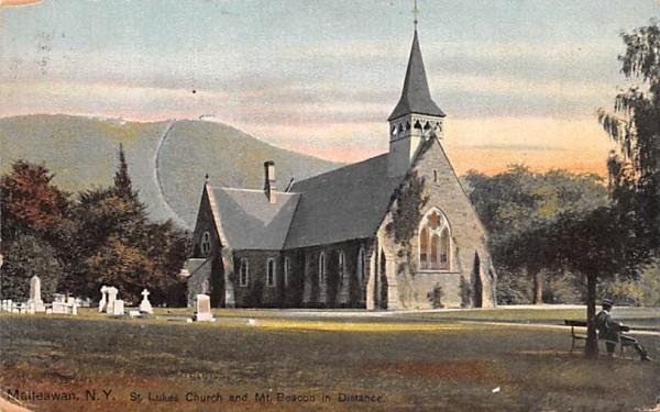 St Luke's Church Matteawan, New York Postcard