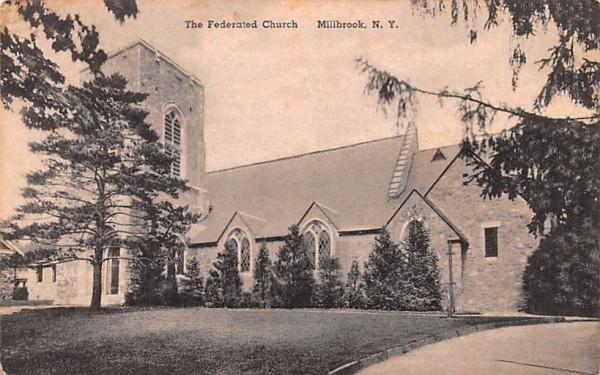 Federated Church Millbrook, New York Postcard