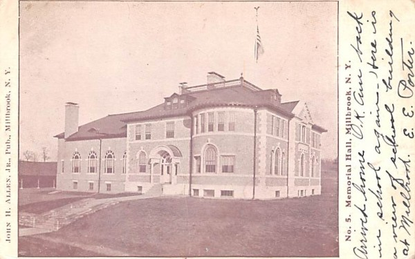 Memorial Hall Millbrook, New York Postcard