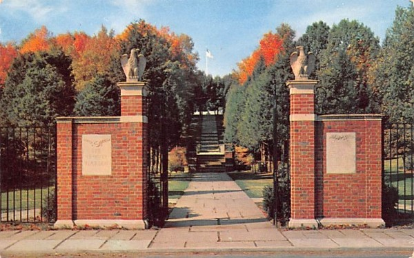 Entrance to the Tribute Garden Millbrook, New York Postcard