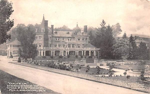 Daheim Residence of Chas F Dieterich Millbrook, New York Postcard