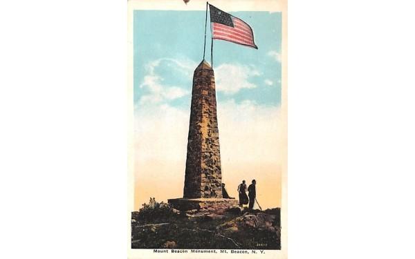 Mount Beacon Monument Millbrook, New York Postcard