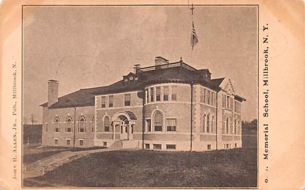 Memorial School Millbrook, New York Postcard