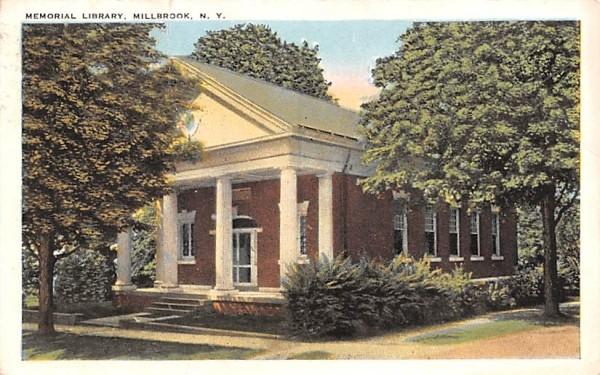Memorial Library Millbrook, New York Postcard